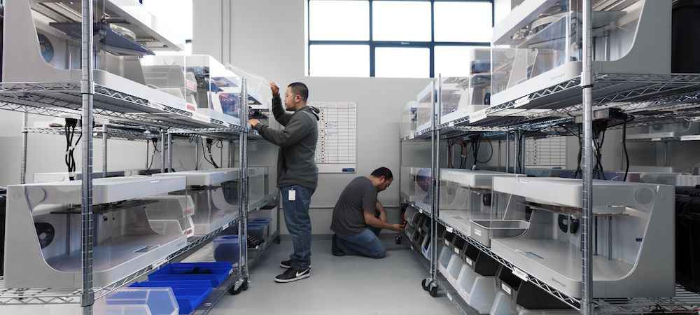 Photo of production line 3D printer
